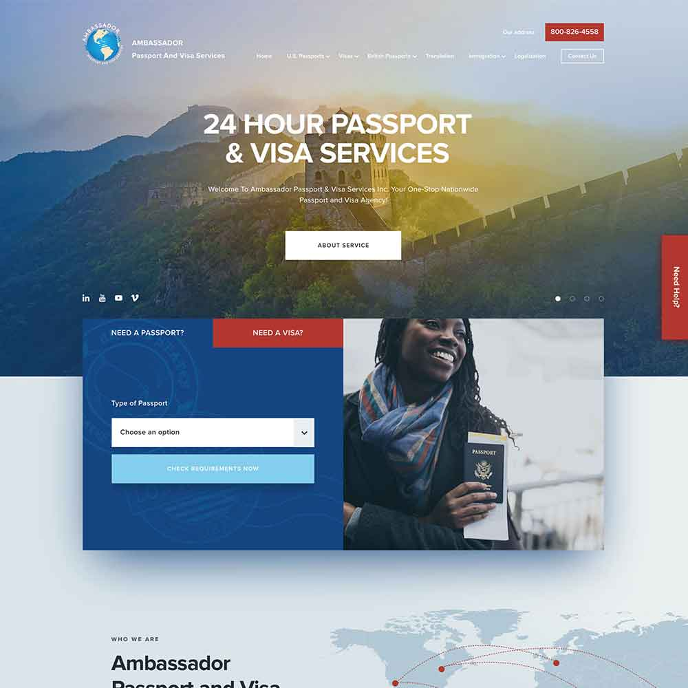 WordPress Website Development for Ambassador