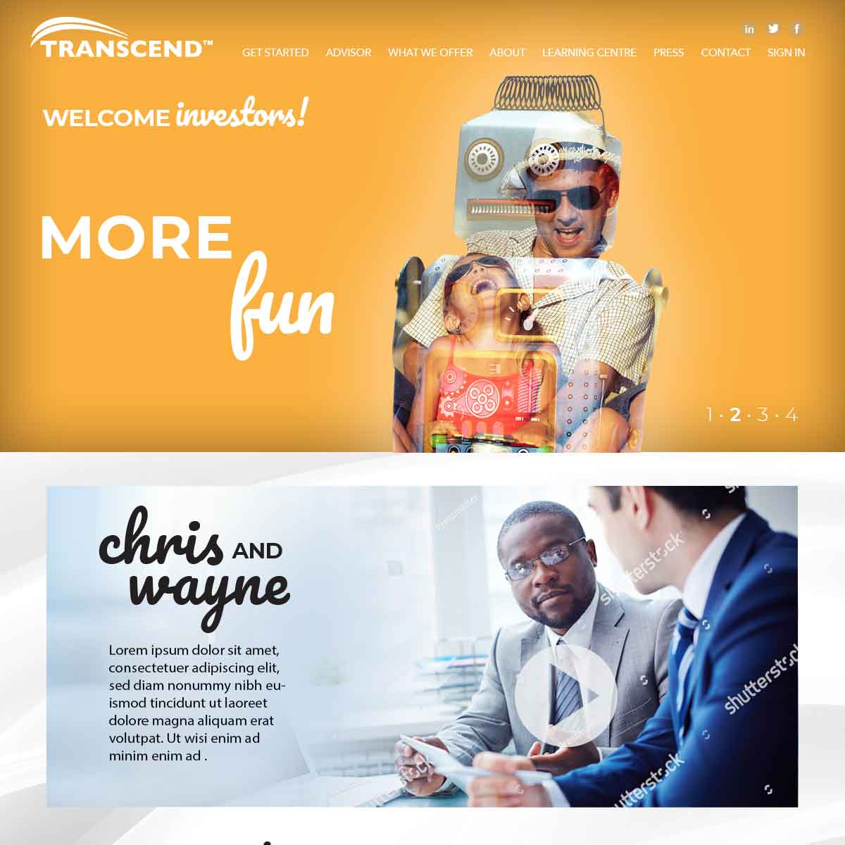 Transcend Website Development