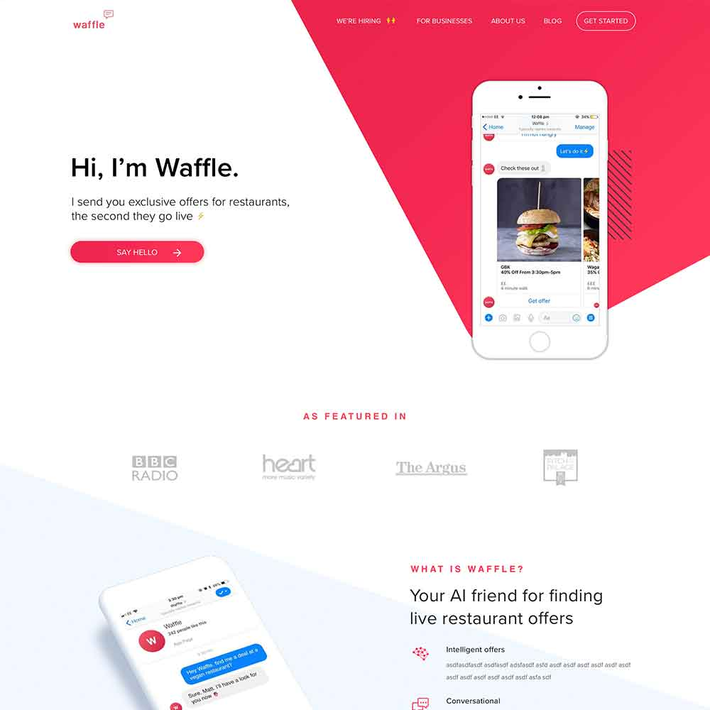 Web Design & Development for Waffle