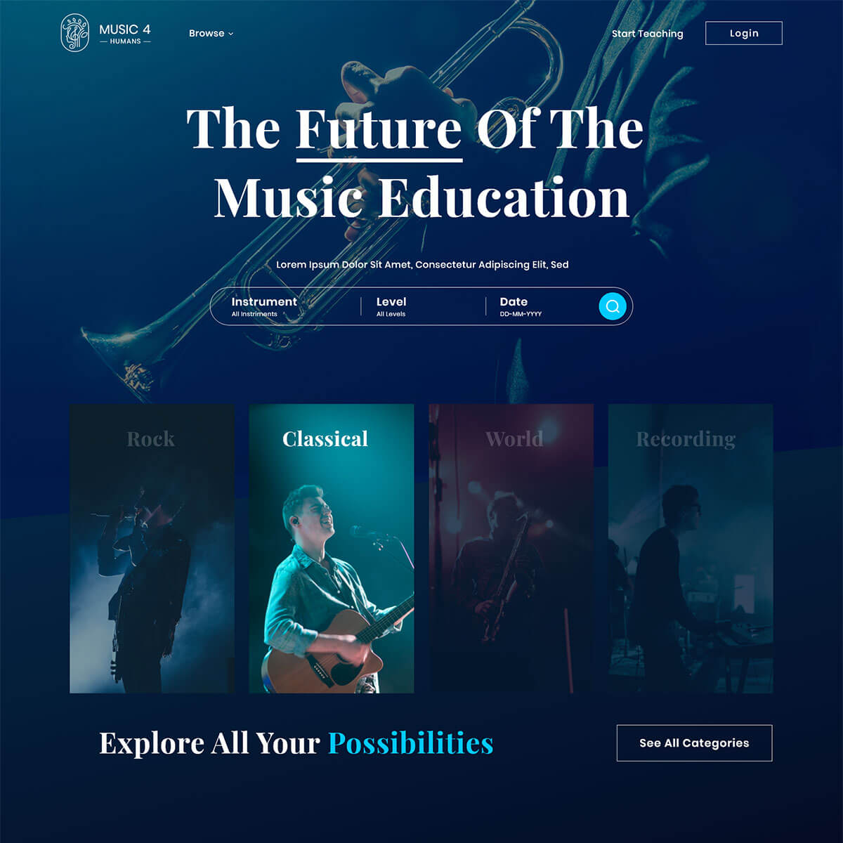Music LMS Website for Music 4 Humans